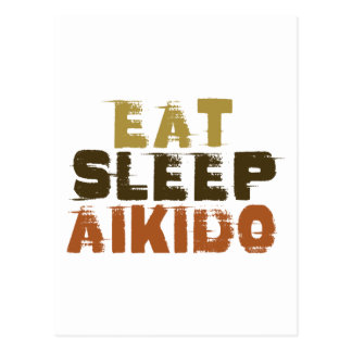 Eat Sleep Aikido Postcard