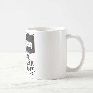 Eat Sleep AK-47 - Black Coffee Mugs