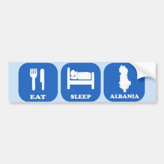 Eat Sleep Albania Car Bumper Sticker