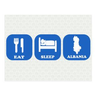 Eat Sleep Albania Postcard