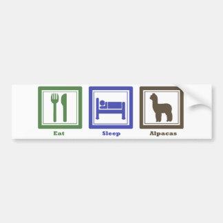 Eat Sleep Alpacas Car Bumper Sticker