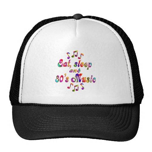 Eat, Sleep and 80's Music Mesh Hats