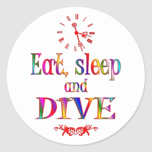 Eat, Sleep and Dive Stickers