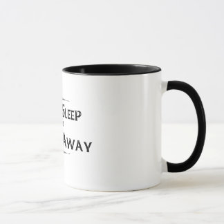 """Eat Sleep and Fiddle Away"" Bl & Wt Coffee Mug"