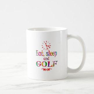 Eat, Sleep and Golf Coffee Mugs