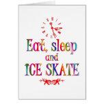 Eat, Sleep and Ice Skate Card