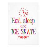 Eat, Sleep and Ice Skate Custom Announcements
