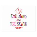 Eat, Sleep and Ice Skate Post Cards