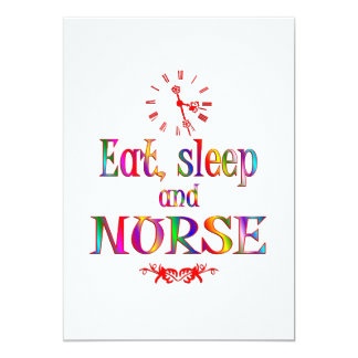 Eat, Sleep and Nurse Card
