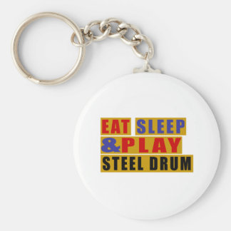 Eat Sleep And Play STEEL DRUM Keychain