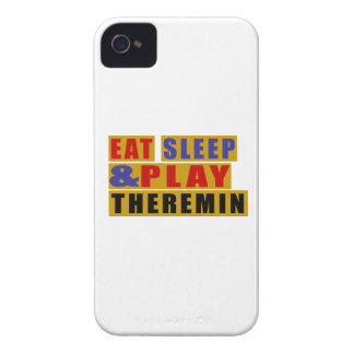 Eat Sleep And Play THEREMIN Case-Mate iPhone 4 Case