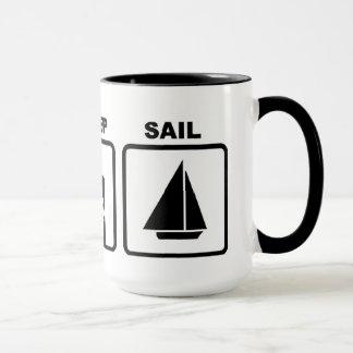 Eat, Sleep and Sail Mug