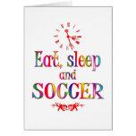 Eat, Sleep and Soccer Cards