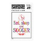 Eat, Sleep and Soccer Postage