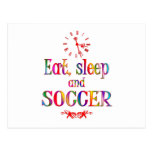 Eat, Sleep and Soccer Postcards