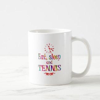 Eat, Sleep and Tennis Coffee Mugs