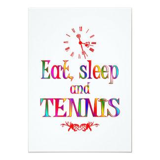 Eat, Sleep and Tennis Custom Invites