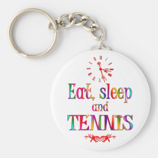 Eat, Sleep and Tennis Key Chain