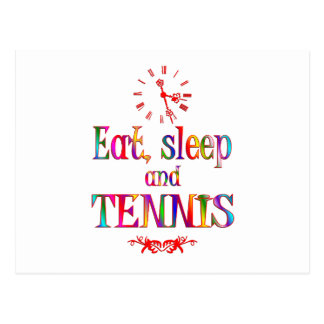 Eat, Sleep and Tennis Post Card