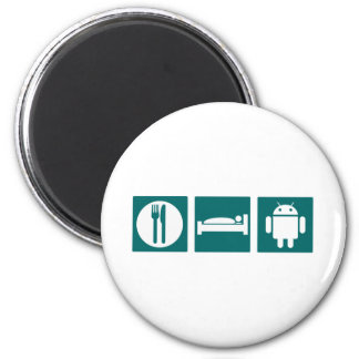 Eat Sleep Android 2 Inch Round Magnet