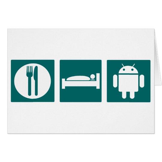 Eat Sleep Android Card