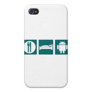 Eat Sleep Android iPhone 4/4S Cases