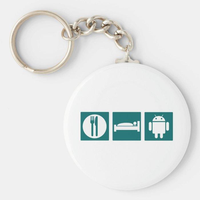 Eat Sleep Android Keychain