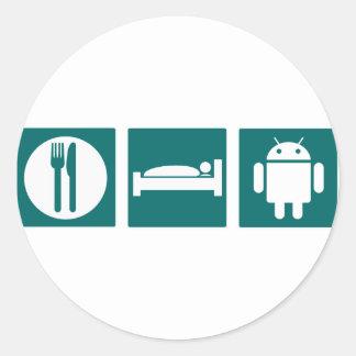 Eat Sleep Android Sticker