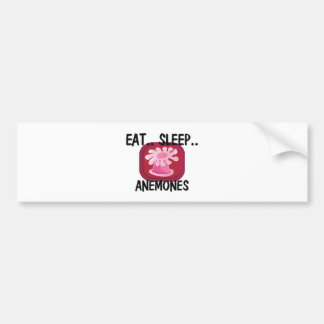 Eat Sleep ANEMONES Car Bumper Sticker