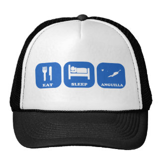 Eat Sleep Anguilla Mesh Hat