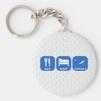 Eat Sleep Anguilla Key Chain