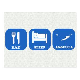 Eat Sleep Anguilla Postcard