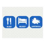 Eat Sleep Antigua Postcard