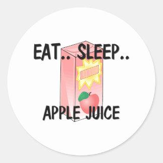 Eat Sleep APPLE JUICE Classic Round Sticker