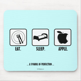 Eat. Sleep. Apple. Mouse Pads