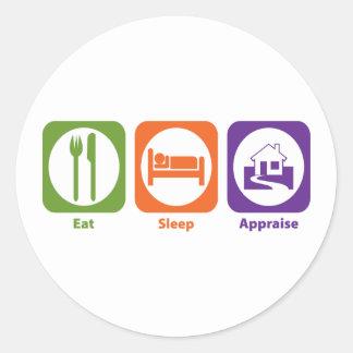 Eat Sleep Appraise Sticker