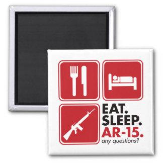 Eat Sleep AR-15 - Red Magnet