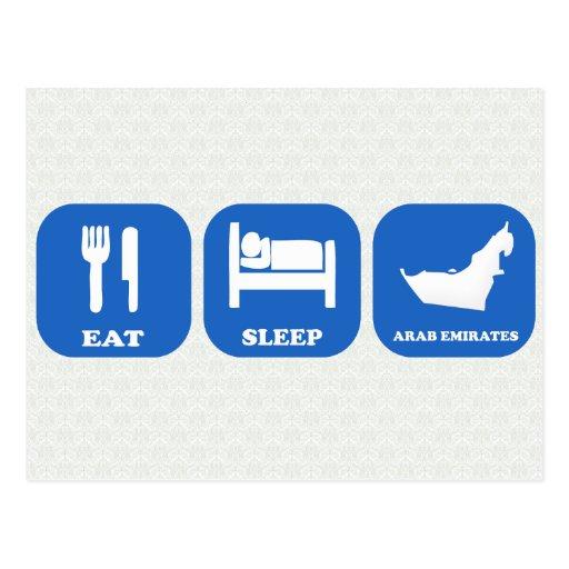 Eat Sleep Arab Emirates Postcard