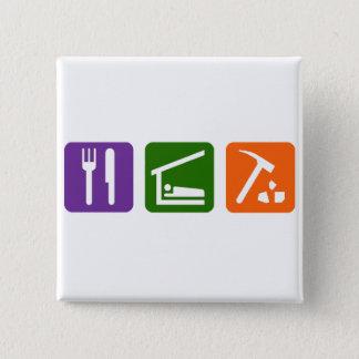 Eat Sleep Archaeology Button