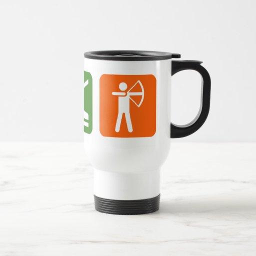 Eat Sleep Archery! 15 Oz Stainless Steel Travel Mug