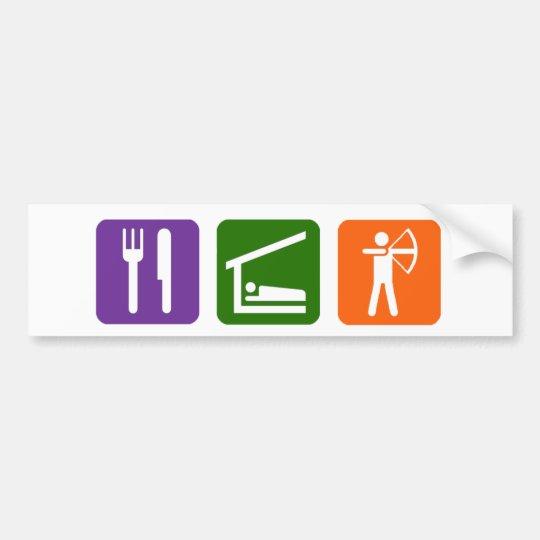 Eat Sleep Archery! Bumper Sticker