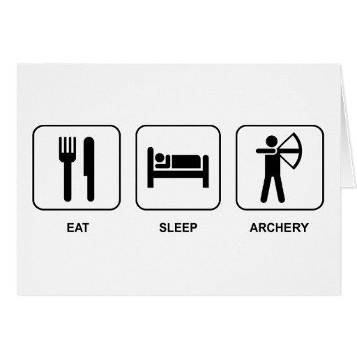 Eat Sleep Archery Card