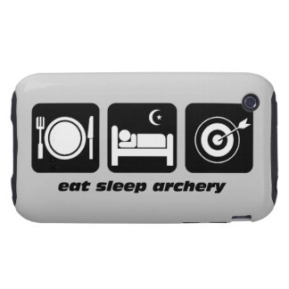 eat sleep archery tough iPhone 3 covers