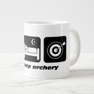 eat sleep archery large coffee mug