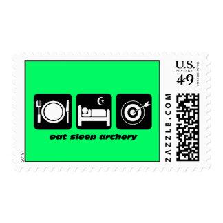 eat sleep archery postage