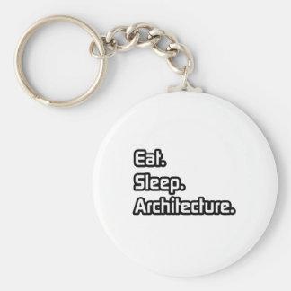 Eat. Sleep. Architecture. Keychain