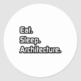 Eat Sleep Architecture Stickers