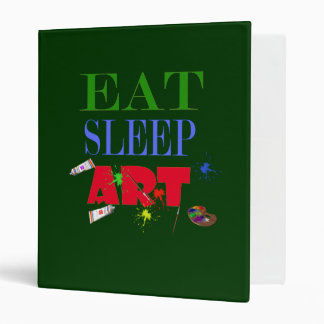 eat sleep art vinyl binder