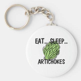 Eat Sleep ARTICHOKES Keychain