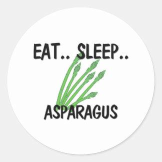 Eat Sleep ASPARAGUS Classic Round Sticker